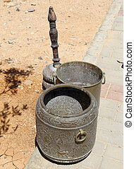 Arabic (Bedouin) coffee grinder Jordan, Middle East - Arabic...