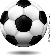 leather soccer ball isolated on a white background, vector...
