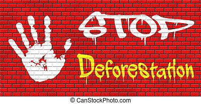stop deforestation safe our planet dant cut down our trees...