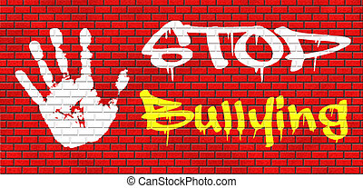 stop bullying graffiti no bullies prevention against school...
