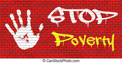 stop poverty give and donate to charity giving a helping...