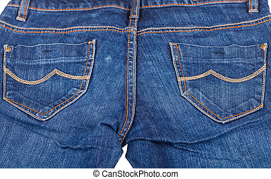 Blue jeans - Close up photo of indigo blue jeans