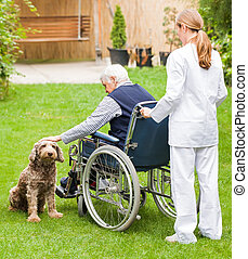 Elderly care - Photo of young