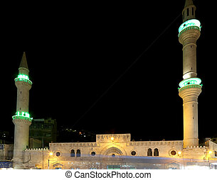 Mosque at night in Amman, Jordan