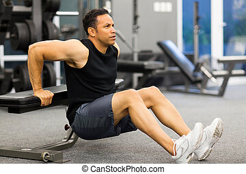 middle aged man stretching