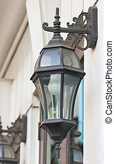 Antique outdoor wall lamp.