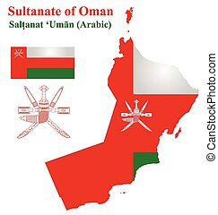 Omani Flag - Flag and national coat of arms of the Sultanate...