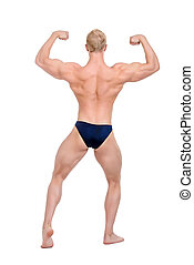 back muscular - Full length portrait of professional...