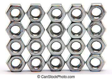 bolts texture isolated on white background construction...