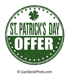 St. Patrick's Day offer stamp
