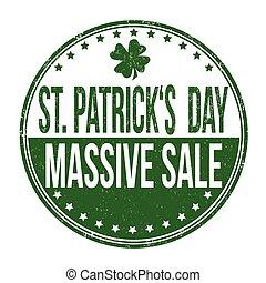 St. Patrick's Day massive sale stamp