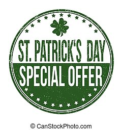 St. Patrick's Day special offer stamp
