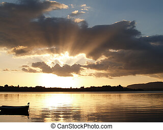 Sunrise over calm harbour - Sunrise over calm Tauranga...