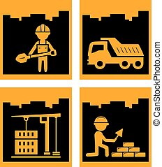 building industrial icons