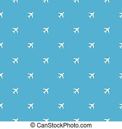 plane pattern - Seamless pattern with white plane vector...