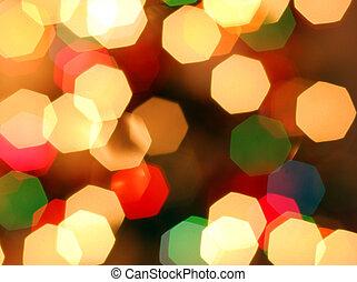 Happy and coloureful Christmas ligh - The Christmas lights...