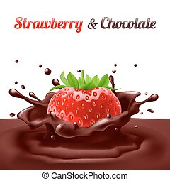 t- shirts - Strawberries dipped in chocolate with splashes...