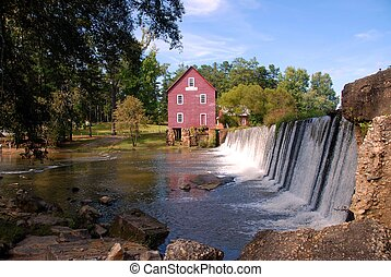Old Mill - Starr\'s mill photographed in Fayette county...