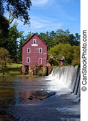 Old Mill - Starr\'s Mill photographed at Fayette county...