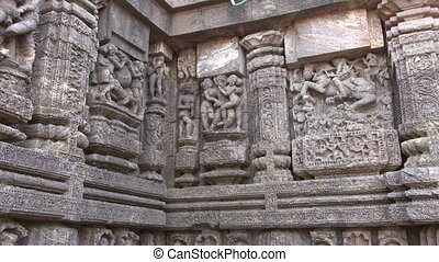 ancient erotic sacred art sculptures on Konark sun temple...