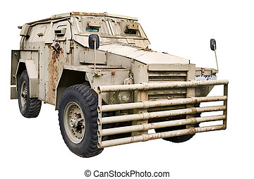 infantry vehicle - isolated object on white - infantry...