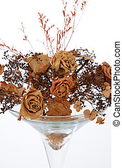 Dried flowers in a vase