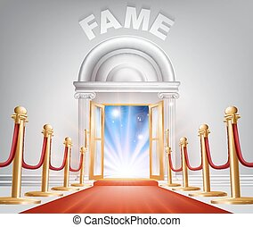 Fame Red Carpet Door - An illustration of a posh looking...
