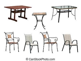 椅子, 表, 剪, 路徑