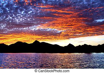 Desert Water Sunset