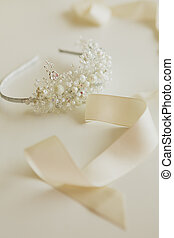 composition of wedding accessories bride - The composition...
