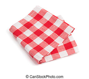 napkin on white background - napkin isolated on white...