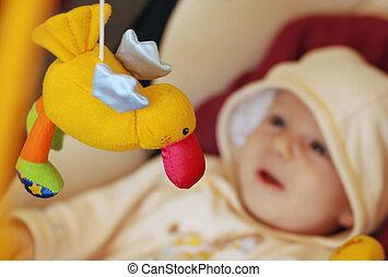 baby,  CÙte, spielende, Spielzeuge