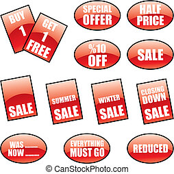 sale labels and stickers