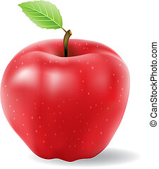 red apple vector isolated on a white background