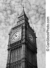Big Ben of the Houses Of Parliament in Westminster, London,...