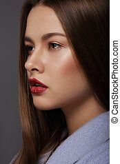 Portrait of Sophisticated and Luxurious Supermodel with...