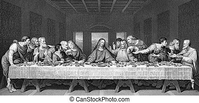 The Last Supper - A drawing of Leonardo Da Vincis The Last...