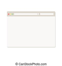 Simple browser window on white background vector