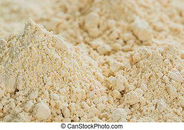 Soy Flour Background - Portion of Soy Flour (detailed...