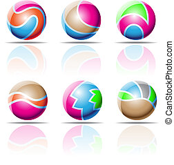 spheres, beach balls