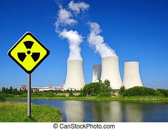 Nuclear, poder, planta, Temelin,