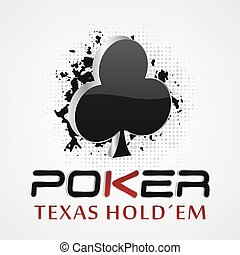 Poker background with card symbol