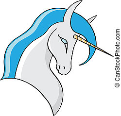 Unicorn - Vector illustration of a cartoon Unicorn