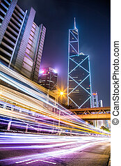 motion blur Hong Kong night scenes