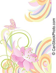 bright light colorful flower background