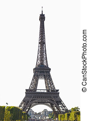 Eiffel isolated - Eiffel tower of Paris isolated over white