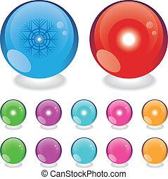Glass season balls