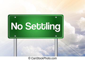 não, estabelecir-se, verde, estrada, sinal,...