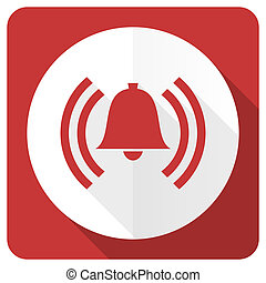 alarm red flat icon alert sign bell symbol
