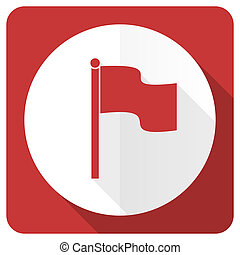 flag red flat icon